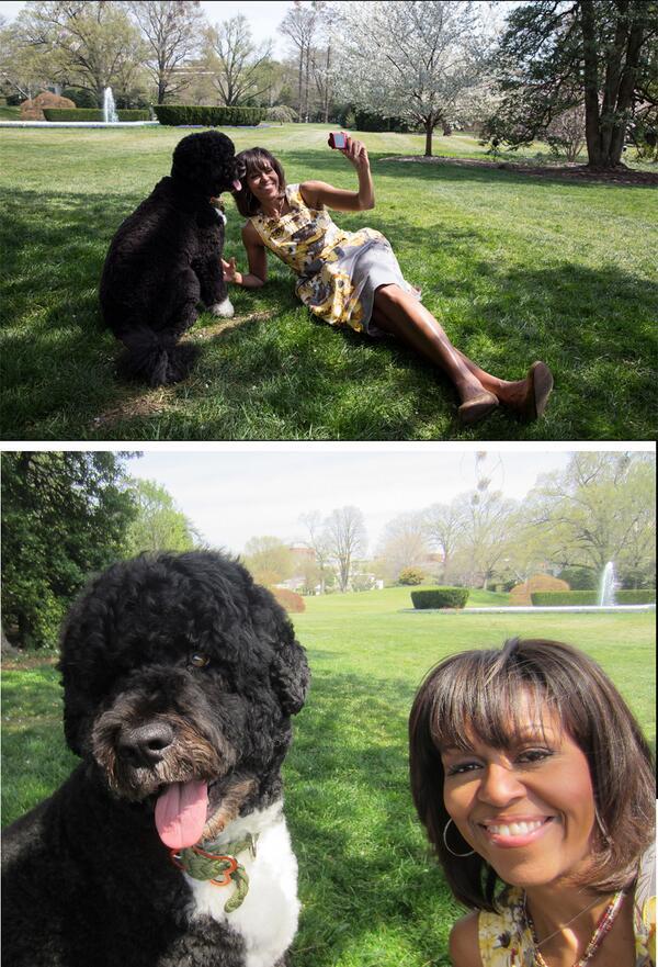 Семья Обама и Бо