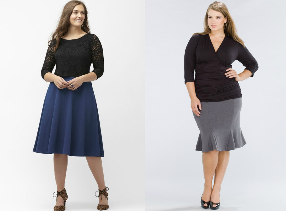 Модели юбок для полных женщин Юбка-трапеция