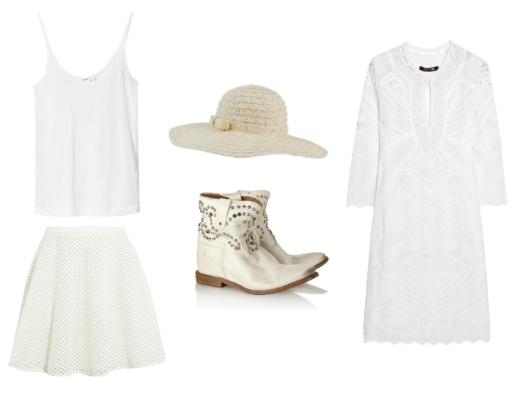 Топ Zara, Юбка DKNY, шляпа Payless, сапоги Isabel Marant, платье Roberto Cavalli