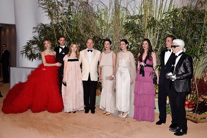 Королевская семья Монако и Карл Лагерфельд