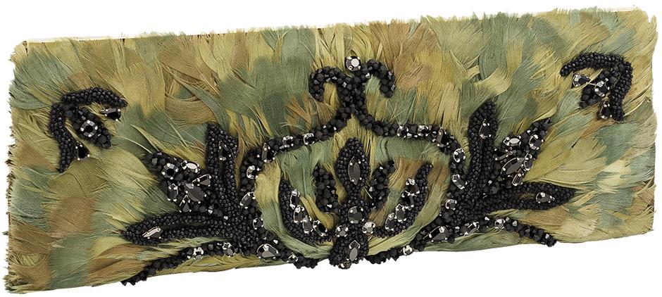 клатч с перьями 2013