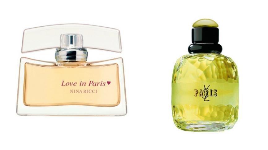 Love in Paris, Nina Ricci; Paris, Yves Saint Laurent
