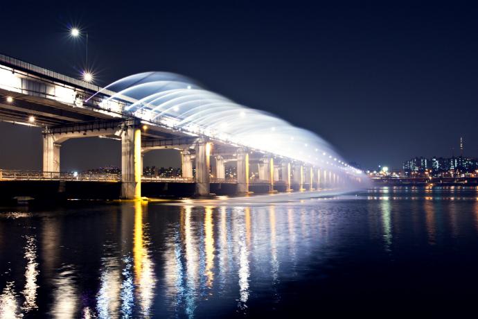 Панпхо, Сеул красивые мосты мира фото