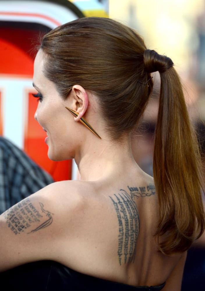 Анджелина Джоли на премьере фильма «Малефисента»