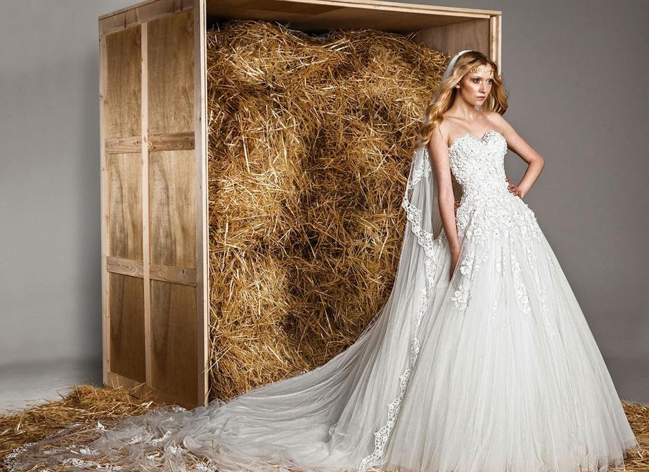 Свадебное платье-бюстье: фото