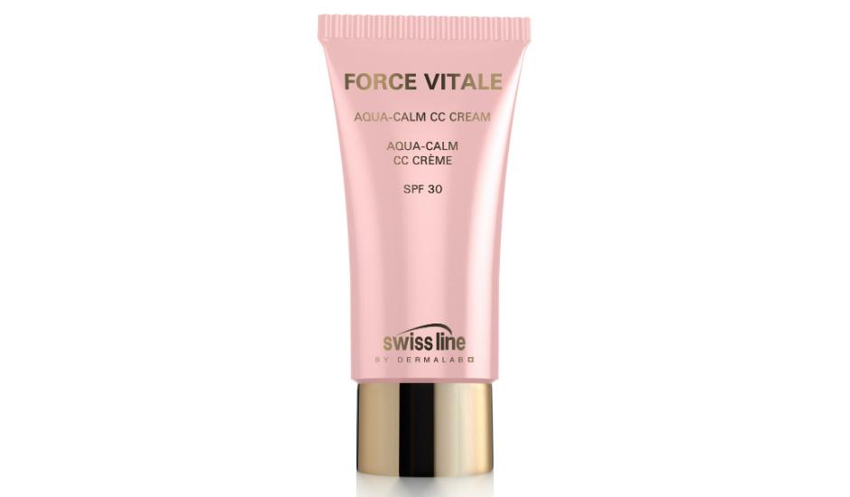 Успокаивающий увлажняющий CC-Крем для чувствительной кожи Force Vitale Aqua-Calm CC cream SPF 30 от Swiss Line