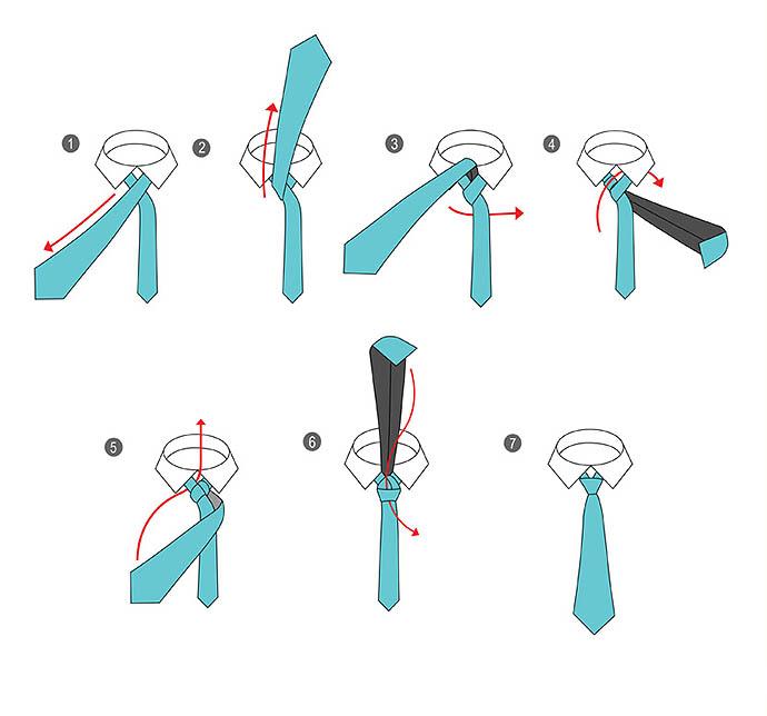 Способы завязывать галстук фото 2016