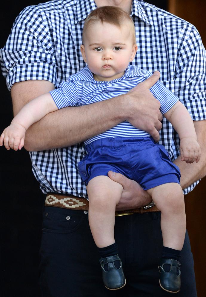 Принц Георг Кембриджский, сын Кэтрин Миддлтон и принца Уильяма