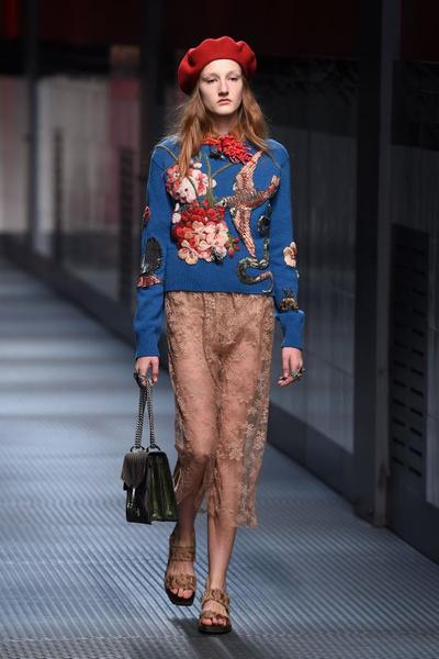 Показ Gucci на Неделе моды в Милане | галерея [1] фото [4]