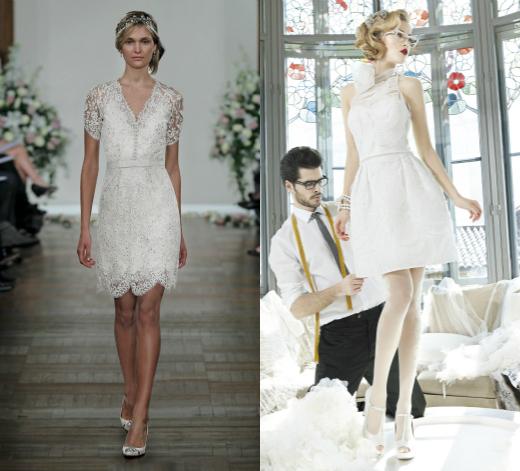 Короткие свадебные платья от Jenny Packham и Yolan Cris