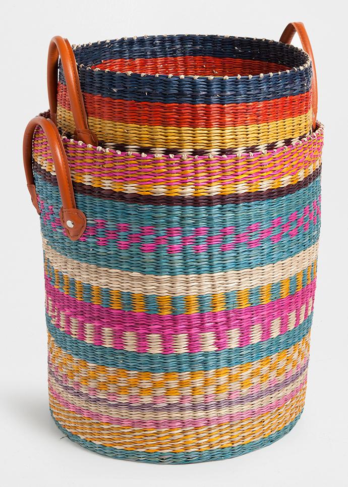 Плетеные корзины в африканском духе