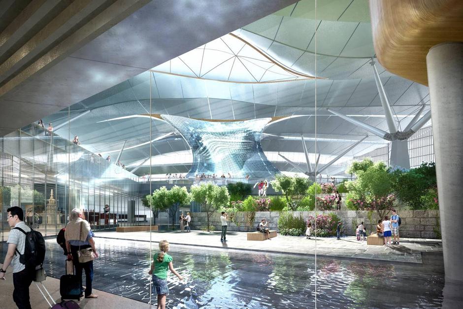 Международный аэропорт Инчхон в Сеуле, Южная Корея
