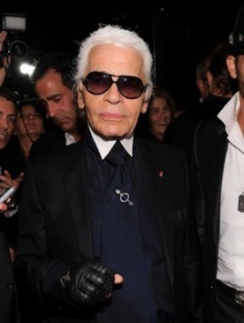 Карл Лагерфельд на открытии бутика Chanel в Нью-Йорке