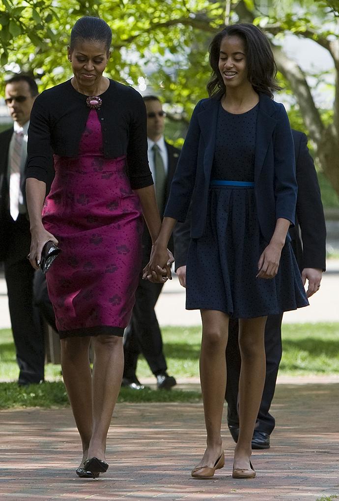 Мишель и Малия Обама фото