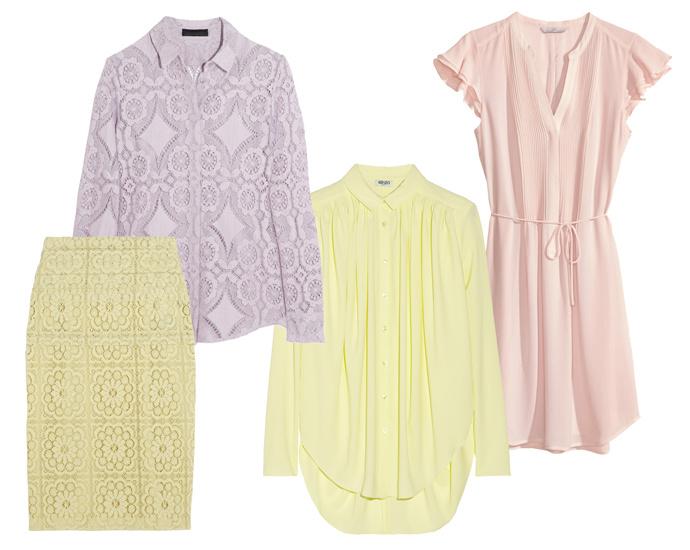 платье h&m, юбка и рубашка burberry, блуза kenzo