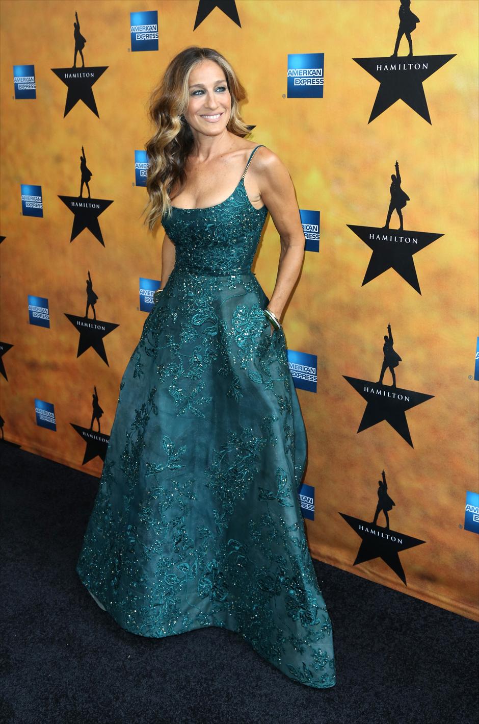 Сара Джессика Паркер на премьере мюзикла Hamilton в Нью-Йорке, 2015 год