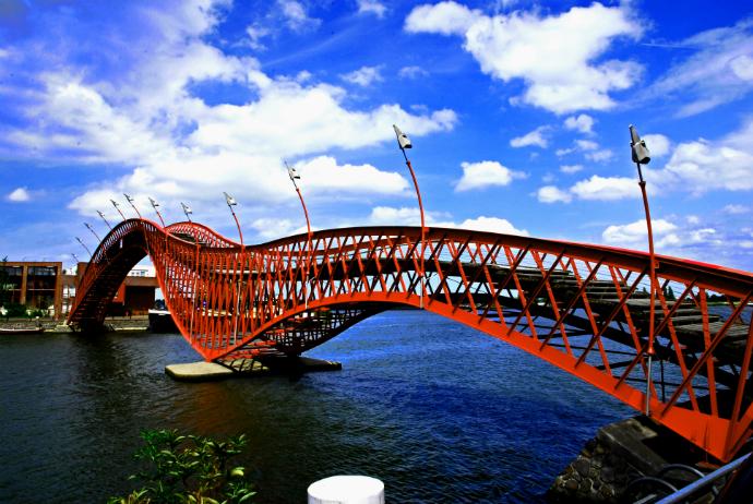 Мост-питон, Амстердам красивые мосты мира фото