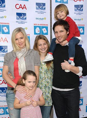 Дженни Гарт с дочерьми и бывшим мужем