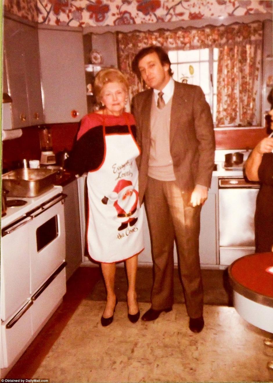 Дональд Трамп с мамой Мэри Трамп