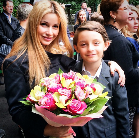 Ольга Орлова с сыном Артемом