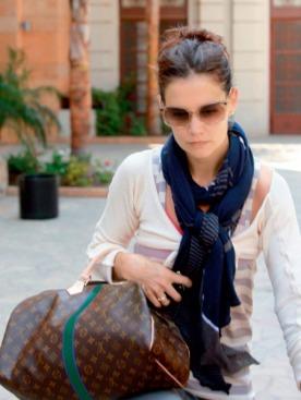 Кэти Холмс  с сумкой  Louis Vuitton Mon Monogram