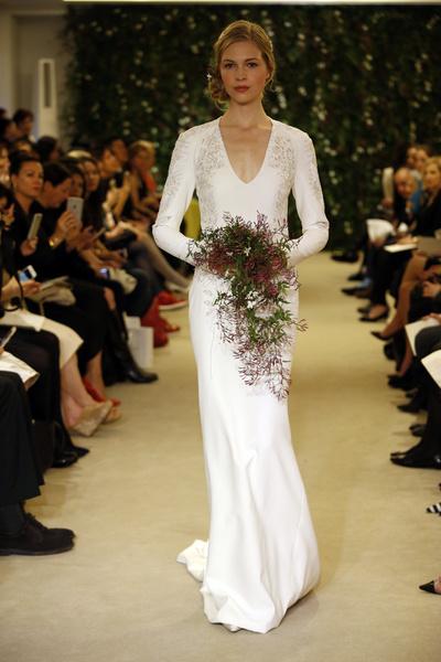 Показ Carolina Herrera на Неделе свадебной моды в Нью-Йорке | галерея [1] фото [4]