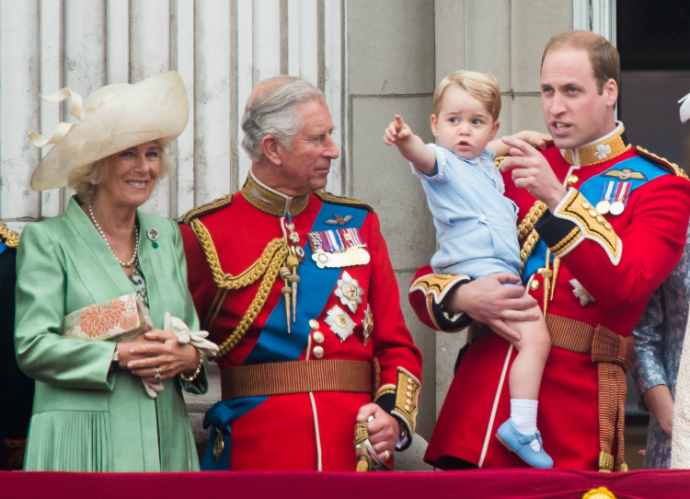 Камилла Боулз, принц Чарльз, принц Уильям и Георг