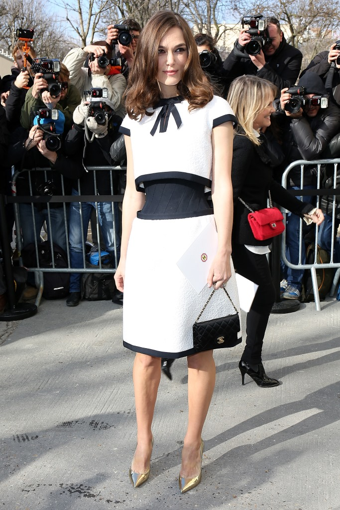 Кира Найтли на показе Chanel
