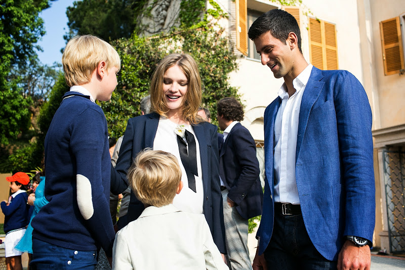 Новак Джокович и Наталья Водянова с сыновьями