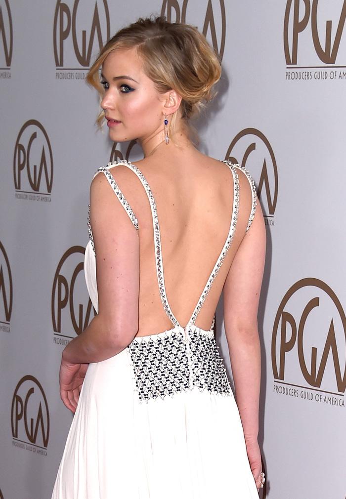 Дженнифер Лоуренс в платье от Prada
