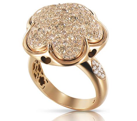 Кольцо Bon ton, розовое золото, бриллианты, Pasquale Bruni, цена по запросу.