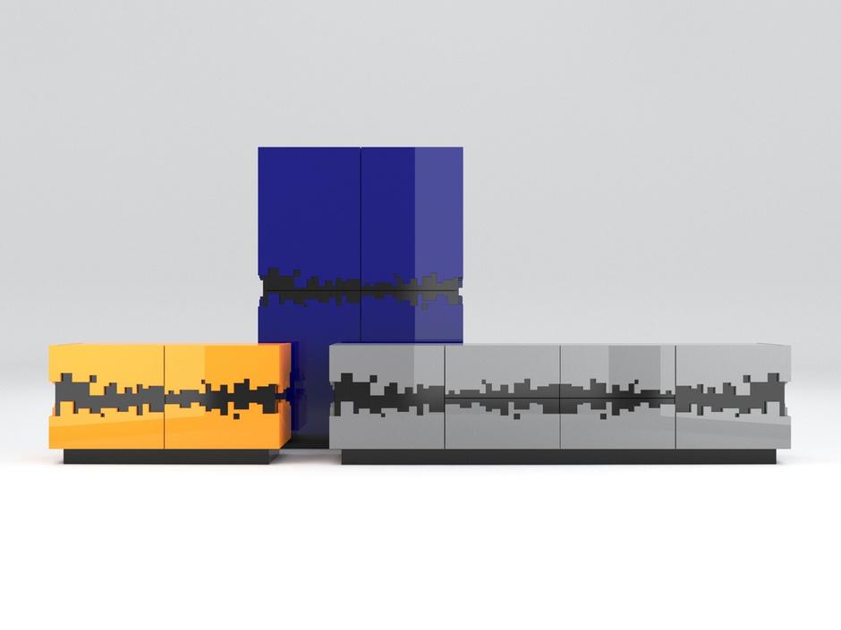 Серия корпусной мебели PiXL, by Max Kasymov