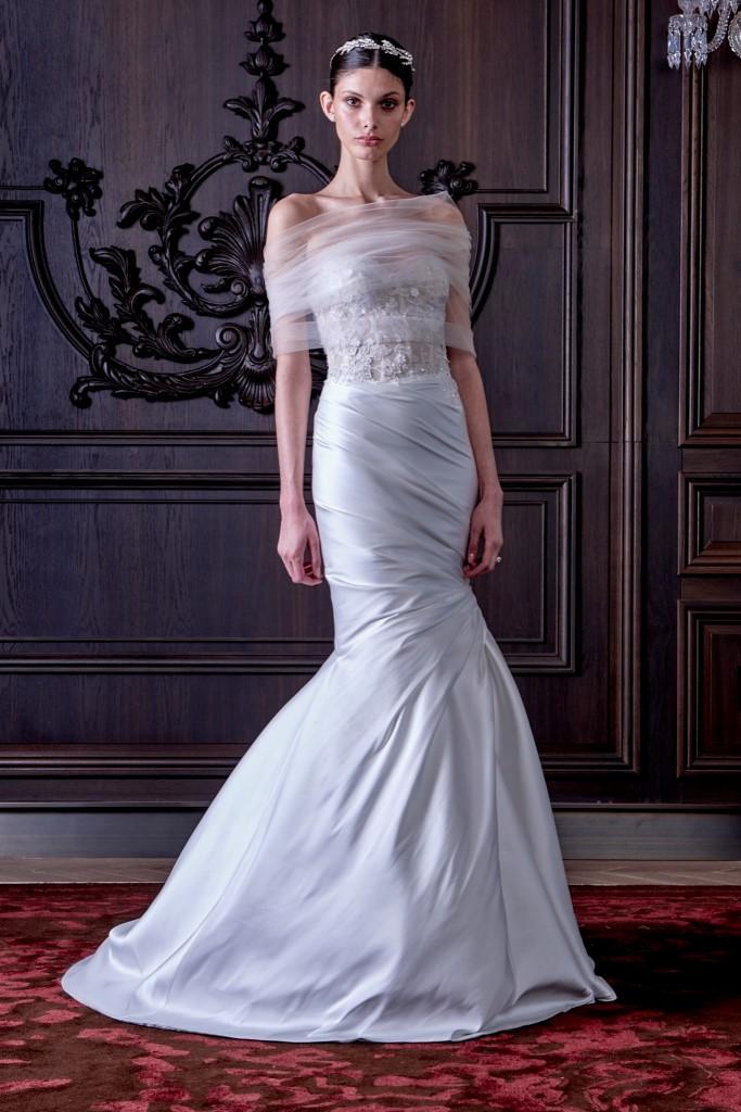 В Нью-Йорке прошел показ свадебной коллекции Monique Lhuillier