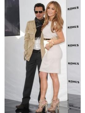 Марк Энтони и Дженнифер Лопез на пресс-конференции Kohl's