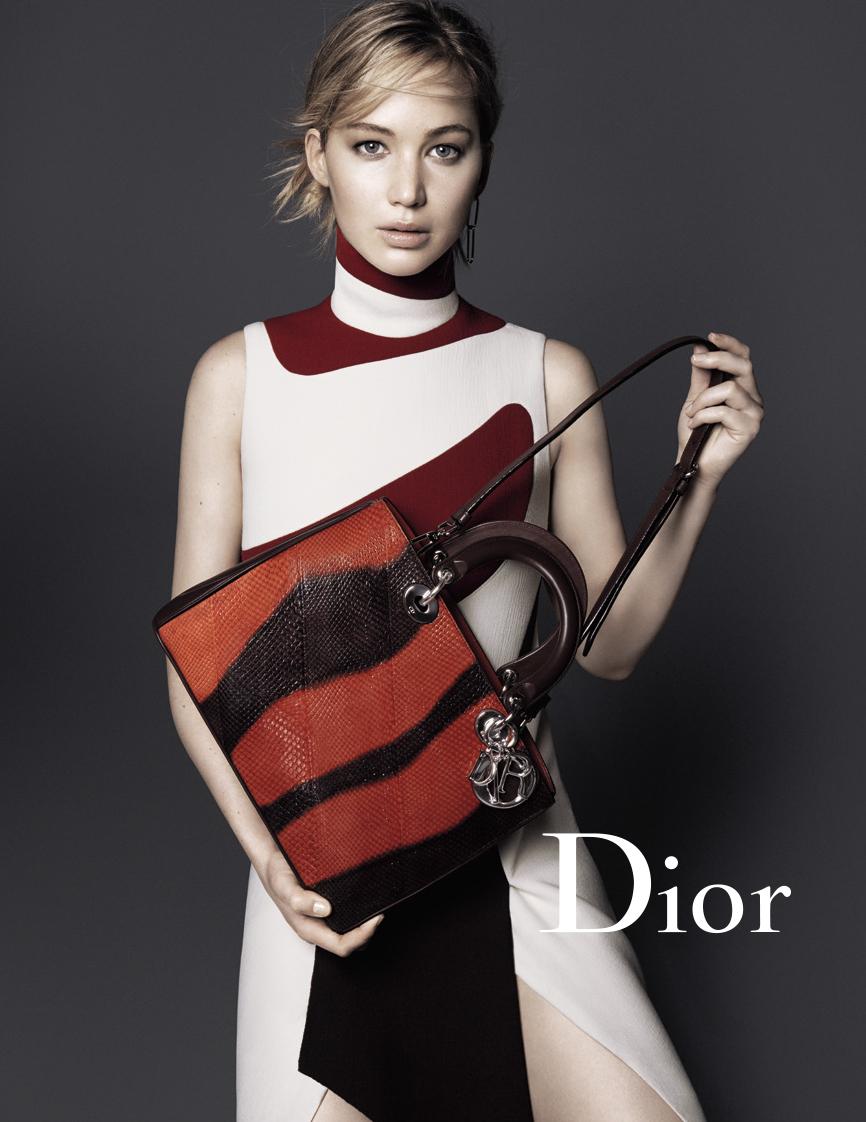 Дженнифер Лоуренс в новой рекламной кампании Christian Dior