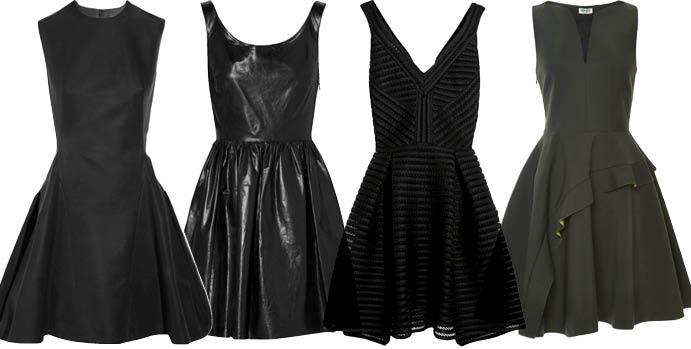 Маленькое черное платье с юбкой-колоколом