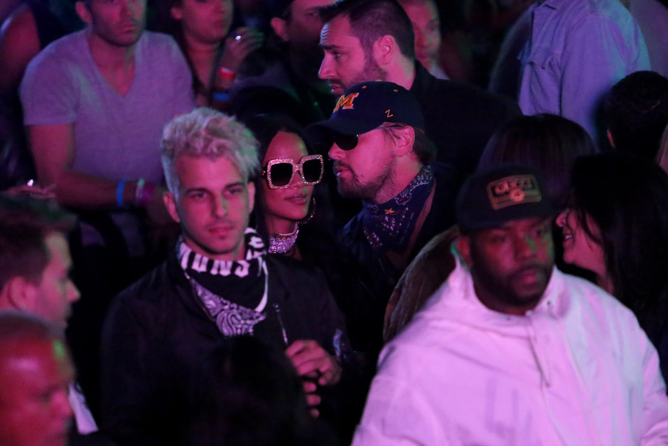 Рианна и Леонардо Ди Каприо на фестивале Coachella