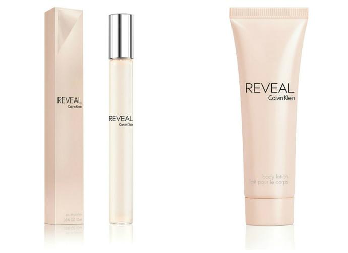 Тревел версия аромата и гель для душа Reveal от Calvin Klein