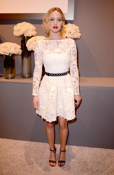 Дженнифер Лоуренс в платье Oscar de la Renta