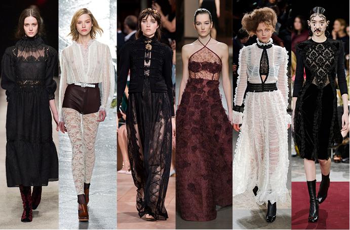 Alberta Ferretti, Rodarte, Valentino, Oscar de la Renta, Alexander McQueen, Givenchy