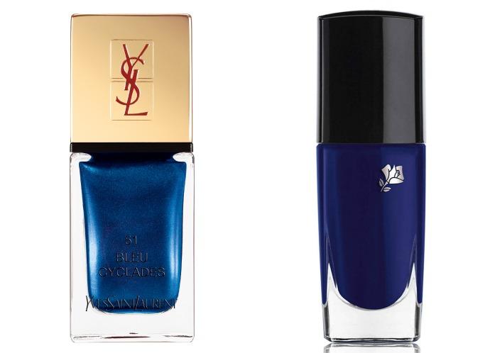Выбор ELLE: YSL La Laque Couture Bleu Cyclades, Lancôme Vernis Love Nuit d'Azur