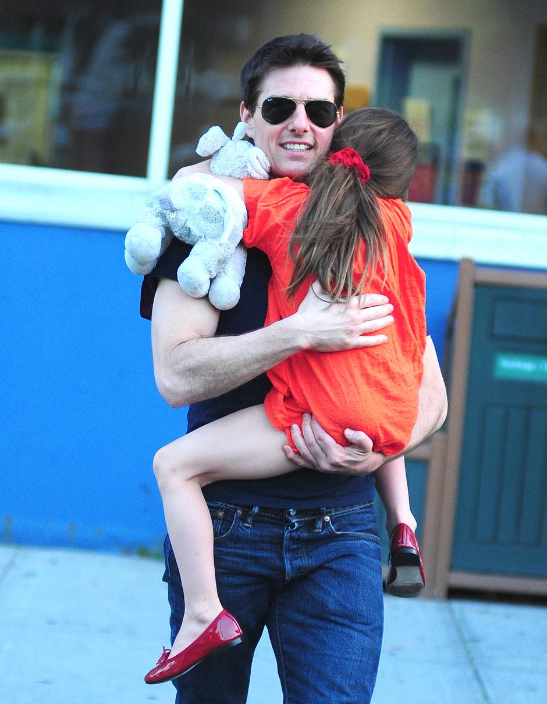 Том Круз с дочерью Сури в 2012 году