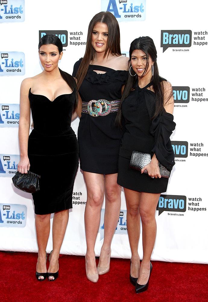 Ким Кардашьян с сестрами Хлое и Кортни