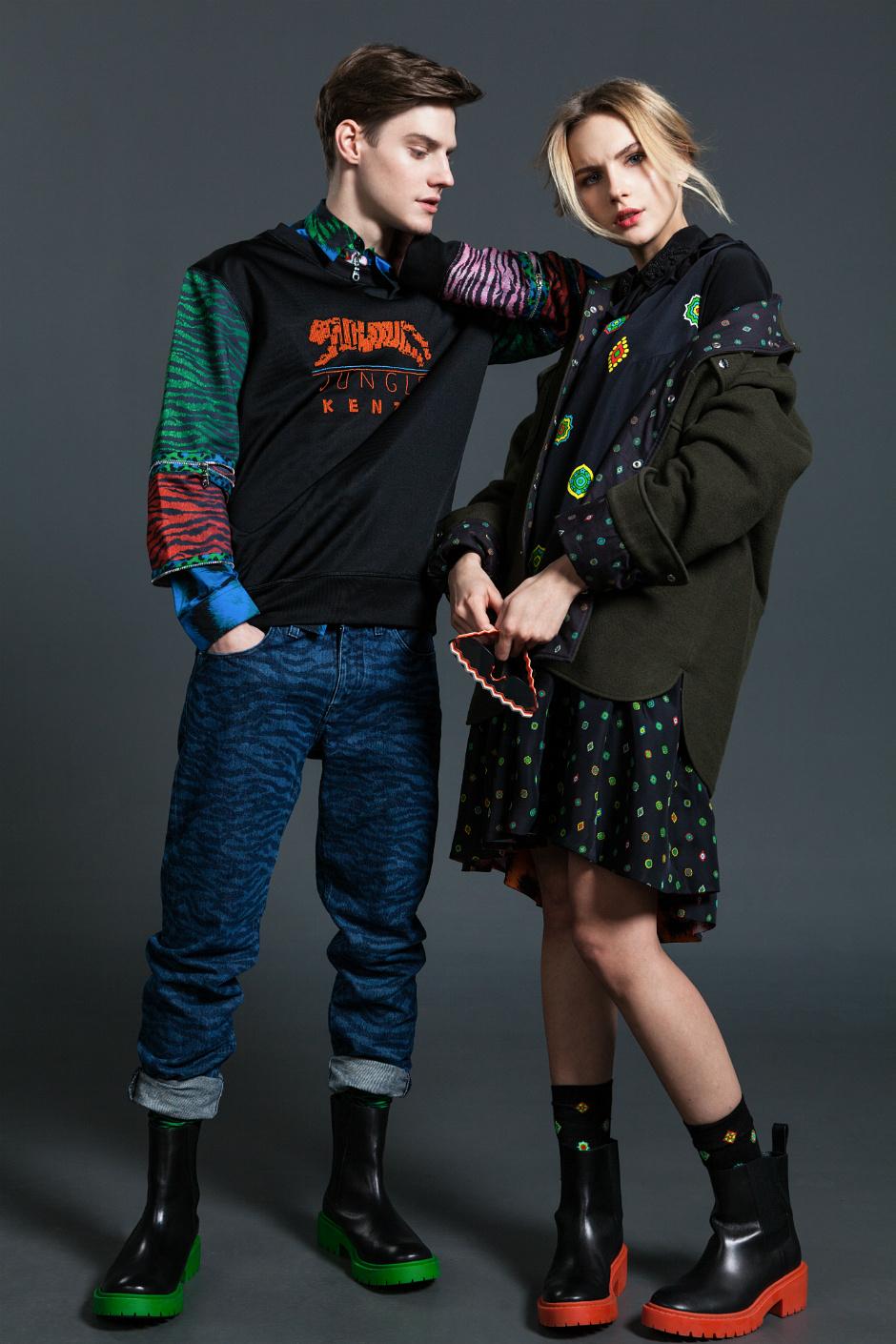 Как носить вещи из коллекции Kenzo x H&M?