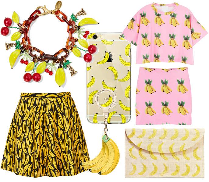 Выбор ELLE: юбка TopShop, клатч Kayu, браслет Erickson Beamon, брелок Kate Spade, платье Chic Nova, чехол для IPhone Aliexpress