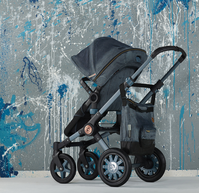 Diesel вновь объединился в маркой Bugaboo, чтобы создать коляски для малышей