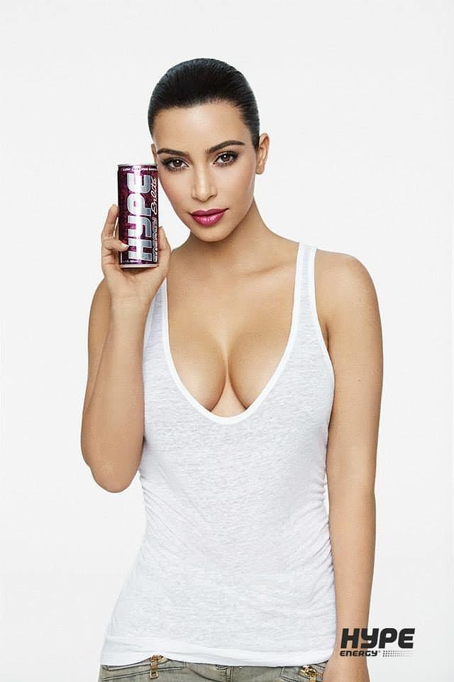 Ким Кардашьян для Hype Energy