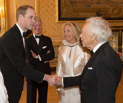 Принц Уильям и Ральф Лорен с супругой