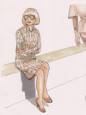 Анна Винтур в раскраске Colour Me Good Fashion