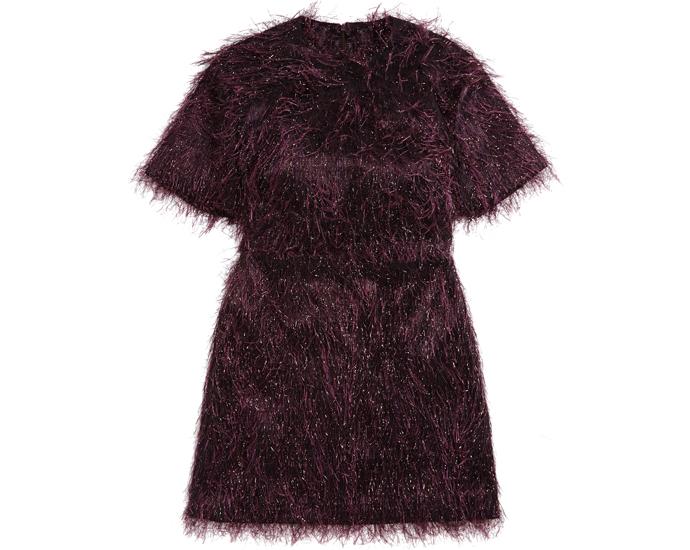 Платье в винном оттенке Asos
